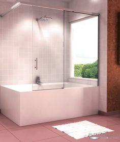 Mampara de ducha loto con una puerta abatible cierre con for Tratamiento antical mamparas
