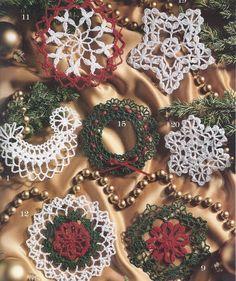 Thread+Crochet+Christmas+Tree+Pattern | 21 Thread Crochet Christmas Tree Ornaments Angel Snowflake Wreath ...