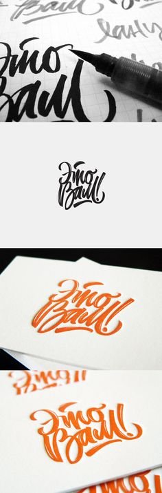 incrível traço de caligrafia