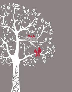 Family tree wall art Custom Anniversary Gift Personalized Family Tree with birds Paper Anniversary Gift Baby Shower Gift Love Birds Family Tree Art, Family Tree Tattoos, Family Tree Images, Family Tree Drawing, Personalised Family Tree, Paper Anniversary, Wedding Anniversary, Tree Wall Art, Mural Wall