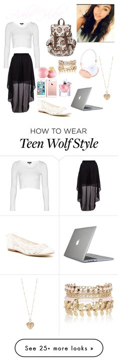 """""""Teen Wolf Oc Outfit"""" by storyofmylife759 on Polyvore featuring Topshop, Soludos, Frends, Speck, Betsey Johnson, River Island, Eos and Lancôme"""