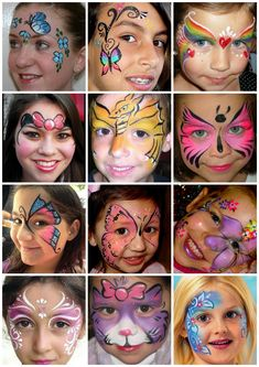 MAĽOVANIE NA TVÁR :: NajVecičky Superhero Face Painting, Face Painting Unicorn, Girl Face Painting, Body Painting, Halloween Makeup For Kids, Beautiful Halloween Makeup, Kids Makeup, Face Painting Images, Face Painting Tutorials