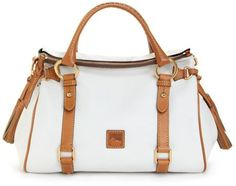 dooney & burke | Dooney & Bourke Florentine Vachetta Small Satchel in White (white ...