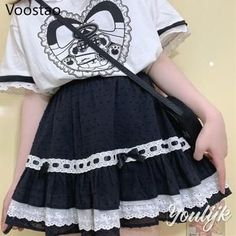 Gothic Lolita Skirt With Bow and Ruffles Costume Collection, Cosplay Wigs, Gothic Lolita, Ruffles, Bows, Costumes, Skirts, Fashion, Arches