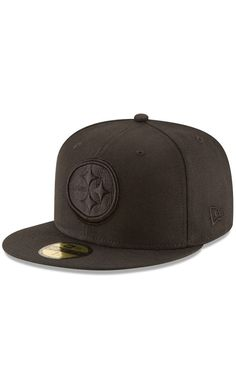 NFL Mens Pittsburgh Steelers New Era Black on Black 59FIFTY Fitted Hat - NFL ed8d4d693cc