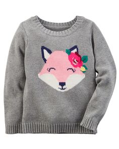 Toddler Girl Animal Sweater from Carters.com. Shop clothing & accessories from a trusted name in kids, toddlers, and baby clothes.