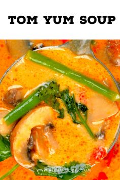 This is a simple yet delicious creamy tom yum soup: a Thai hot and sour soup that is aromatic, rich, spicy, and satisfying! Plus, this recipe is customizable, meat-free, and can be made vegan! Tom Yum Noodle Soup, Tom Yum Noodles, Thai Tom Yum Soup, Thai Hot And Sour Soup, Spicy Soup, Tom Yum Paste, Mushroom Varieties, Vegan Fish, Small Tomatoes