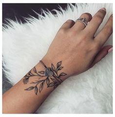 Unique Wrist Tattoos, Meaningful Wrist Tattoos, Wrist Tattoos For Women, Tattoos For Women Small, Small Tattoos, Wrap Around Wrist Tattoos, Womens Ankle Tattoos, Inner Wrist Tattoos, Simple Forearm Tattoos
