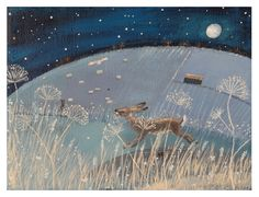 I love the moon.  I must have this print in my house soon.
