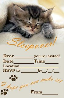 ! so cute Free printable Party Invitations.