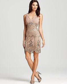 c147890f98a Sue Wong Beaded Dress - Sleeveless V Neck Women - Bloomingdale s