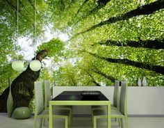 Tapeten Farben Ideen  Interessanter Grüner Wand