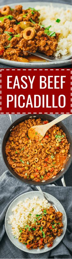 An easy beef picadillo stew recipe influenced by Cuban and Mexican cuisine. #beef #healthy mexicano / cubano / puerto rican / pinoy / filipino / turkey / receta / costa rica / de res / mexico / keto / low carb / diet / atkins / induction / meals / recipes #beeffoodrecipes
