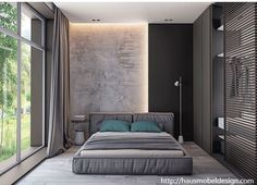 If you are going to a modern time and need some bedroom ideas, let you inspiring! See more clicking on the image. Modern Bedroom Design, Home Room Design, Master Bedroom Design, Home Decor Bedroom, Bedroom Wall, Home Interior Design, Interior Architecture, Bedroom Ideas, Modern Bedroom Lighting