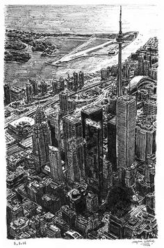 Toronto Skyline by Stephen Wiltshire