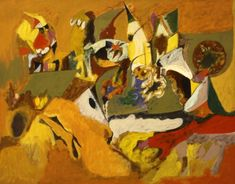 Golden Brown Painting, 1943-1944 - Arshile Gorky. Expresionismo Abstracto