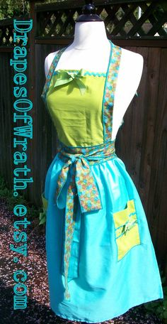 Latest up-cycled apron in our shop. $34.00 #vintage #apron #upcycled