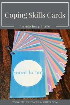 Free printable coping skills cards are useful for teachers, counselors, or parents wanting to help kids self-regulate their emotions.