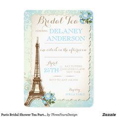 Paris Bridal Shower Tea Party Invitation