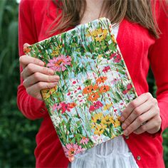 Embroidered journal cover tutorial by Caught On a Whim.