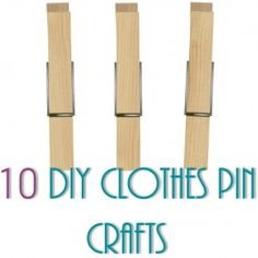 10 DIY Clothes Pin Crafts -plus links at the bottom for DIYs for tin cans, picture frames, lace and sharpies. :)