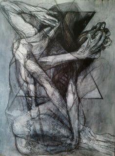 Jean Francois B. Aesthetic Images, Aesthetic Art, Figure Painting, Figure Drawing, Mental Health Art, Angel Sculpture, Gesture Drawing, Anatomy Art, Human Art