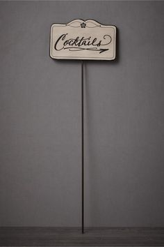 Cocktails sign. This-Way-To-The-Cocktails Sign in SHOP Décor Decorating at BHLDN