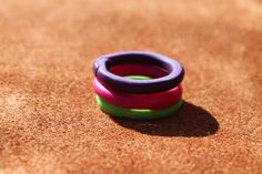 Stackable Bands in Bright Colors Polymer Clay by SunshineTextiles, $15.00