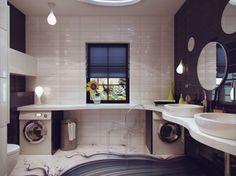 combined bathroom/laundry design