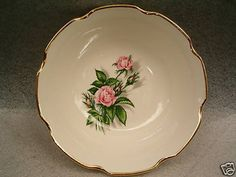 Rose #Royale Vegetable Serving Bowl USA gold gilt trim Vintage