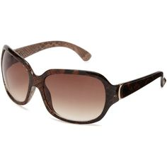 Nine West Women's S05969rnj200 Square Sunglasses ($40) ❤ liked on Polyvore featuring accessories, eyewear, sunglasses, nine west, nine west glasses, nine west eyewear, square sunglasses und nine west sunglasses