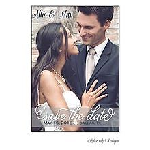 Save The Date Transparent Band Overlay Save The Date Photo Magnet