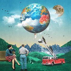 Luke Robson | Digital Collage Art. Love this guy's work