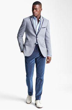 Etro Blazer, Dress Shirt & Slim Fit Corduroy Pants.