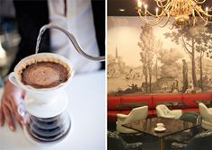 La Mill, Los Angeles CA:   an ultra-trendy coffee bar serving carefully selected single-origin coffees and blends, plus an eclectic menu of dishes ranging from frisée au lardon to Japanese ramen with buna-shimeji mushrooms.