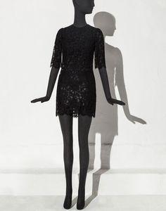 ABITO TUBINO PIZZO CORDONETTO BOTTONI GIOIELLO  - Vestiti corti - Dolce&Gabbana - Estate 2015