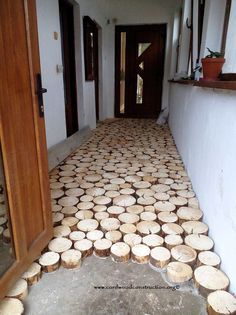 14 Interior Design Ideas Using Wood - Local Home US - Home Improvement Floor Design, House Design, Cordwood Homes, Diy Inspiration, Interior Design Living Room, Interior Paint, Home Projects, Home Remodeling, Diy Furniture