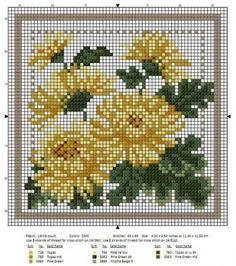 """Photo from album """"Рукоделие"""" on Yandex. 123 Cross Stitch, Cross Stitch Flowers, Counted Cross Stitch Patterns, Cross Stitch Charts, Cross Stitch Designs, Cross Stitch Embroidery, Flower Chart, Cross Stitch Geometric, Embroidered Gifts"""