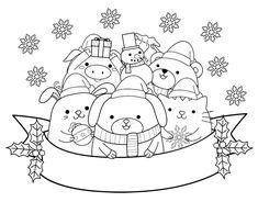 Dibujo de Animalitos navideños para colorear