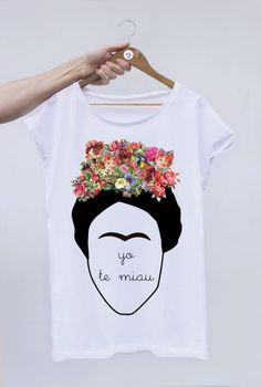 "CAMISETA DE LA MARCA OFFSETCOLLAGE ""YO TE MIAU"" VERSION DE FRIDA KAHLO"