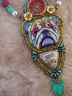 Bull Dog Necklace by HeidiKummliDesigns on Etsy