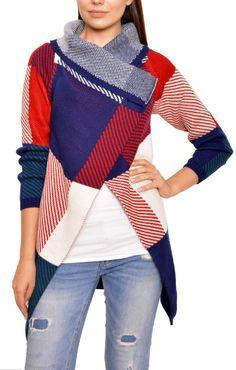 Plaid Wrap Around Sweater