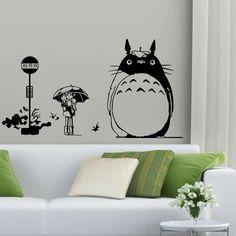 2016 Nouveau Japon Totoro de Bande Dessinée affiche de Décor Mon Voisin Totoro Vinyle Murale de Mur art Decal Kid Chambre Maison Decoration 51 dans Stickers muraux de Maison & Jardin sur AliExpress.com | Alibaba Group