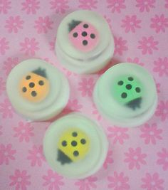 LADYBUG SOAPS - Cute, Perfect for kids  Toy eraser embeds