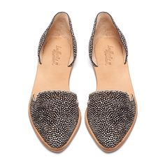 feather printed d'orsay flats