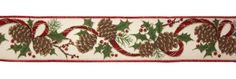 """Elegant Holly and Pine Wired Floral, Craft and Christmas Ribbon 2.5"""" x 60 Yards * Want additional info? Click on the image."""