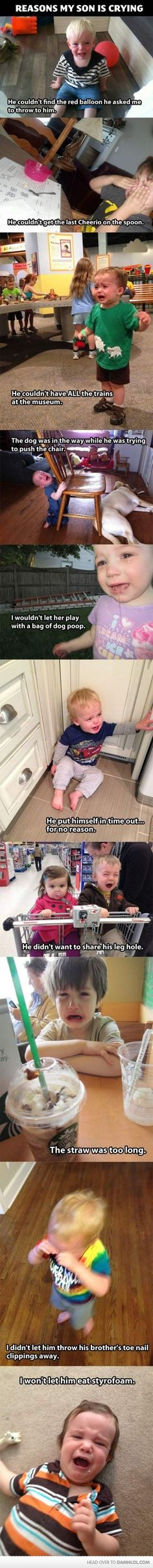 Laughed so hard bahahahaa check out her blog - reasons my son is crying...freaking hilarious!