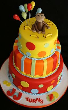 Curious George Cake. Wish I could make this!