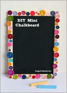 DIY Mini Chalkboard Tutorial~ Buggy and Buddy - see the full how to using Mod Podge Collage Clay, Mod Melts and Molds and mixed media crafts Projects For Kids, Diy For Kids, Crafts For Kids, Craft Projects, Small Chalkboard, Chalkboard Paint, Back To School Crafts, School Fun, School Ideas