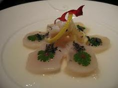 Scallop Ceviche, Nobu Tokyo. Nobu Clock Plate Asian Foods, Asian Recipes, Ethnic Recipes, Scallop Ceviche, Japanese Food, Dinnerware, Tokyo, Plating, Clock